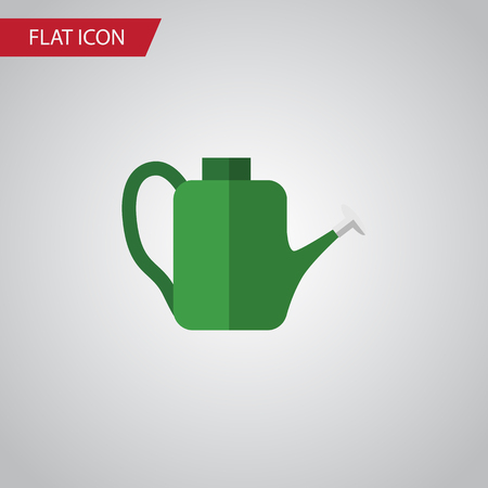 Isolated Watering Can Flat Icon. Bailer Vector Element Can Be Used For Watering, Can Bailer Design Concept. Illustration