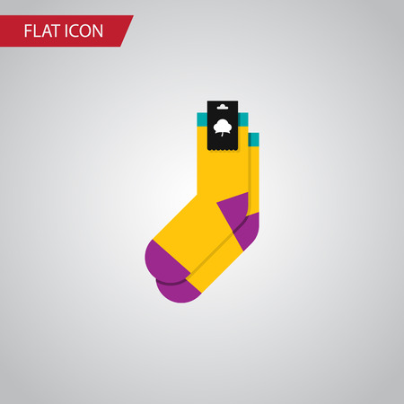 hosiery: Isolated Socks Flat Icon. Hosiery Vector Element Can Be Used For Socks, Half-Hose, Hosiery Design Concept. Illustration