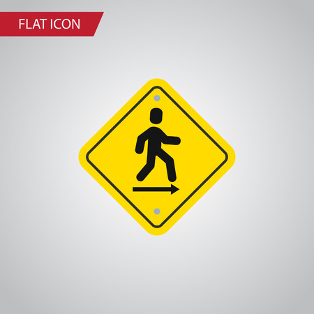 doorknob: Isolated Road Sign Flat Icon. Direction Pointer Vector Element Can Be Used For Direction, Pointer, Board Design Concept. Illustration