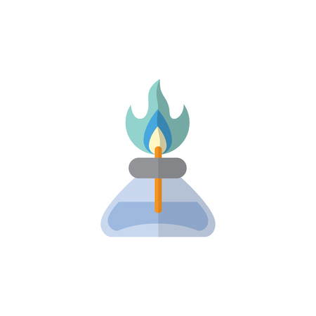 compressed air: Isolated Gas Burner Flat Icon. Flame Vector Element Can Be Used For Flame, Gas, Burner Design Concept.