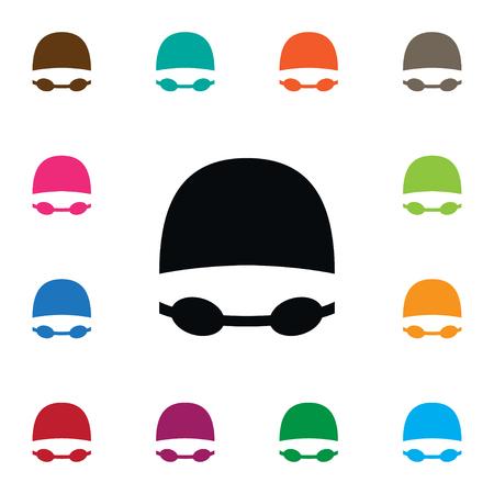 Geïsoleerde zwembroek pictogram. Het Vectorelement van beschermende brillen kan voor Beschermende brillen, het Concept van het Zwempak, Kostuumontwerp worden gebruikt.