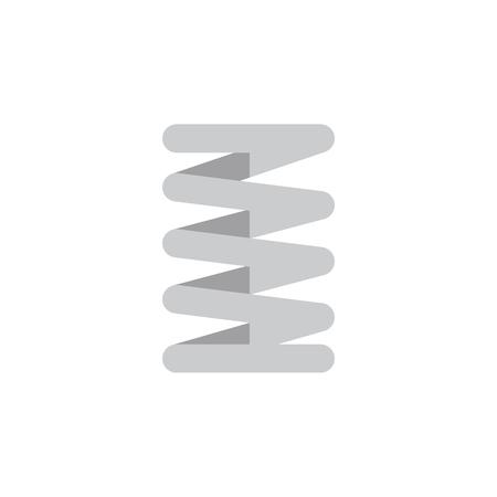 Geïsoleerde auto voorjaar platte pictogram. Krukas Vector Element kan worden gebruikt voor krukas, auto, lente ontwerpconcept.