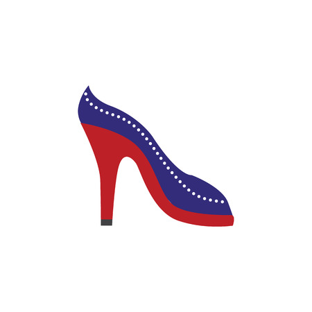 Isolated Sandal Flat Icon. Heeled Shoe Vector Element Can Be Used For Heeled, Shoes, Sandal Design Concept.