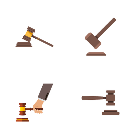 Flat Icon Lawyer Set Of Tribunal, Legal, Crime And Other Vector Objects. Also Includes Crime, Legal, Justice Elements.