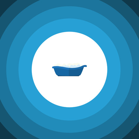 Isolated Children Bathing Flat Icon. Bathtub Vector Element Can Be Used For Children, Bathing, Bathtub Design Concept.