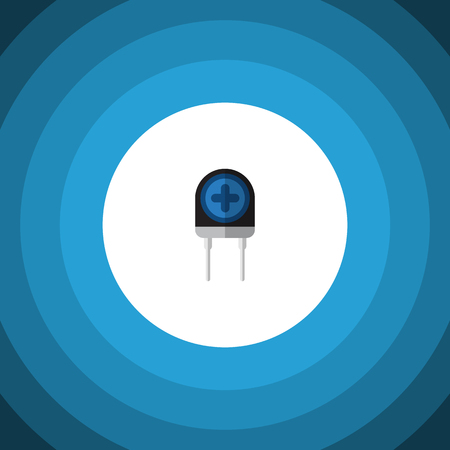 Isolated Diode Flat Icon. Transducer Vector Element Can Be Used For Recipient, Transistor, Transducer Design Concept. Illustration
