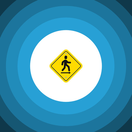 evacuacion: Isolated Road Sign Flat Icon. Direction Pointer Vector Element Can Be Used For Direction, Pointer, Board Design Concept. Vectores