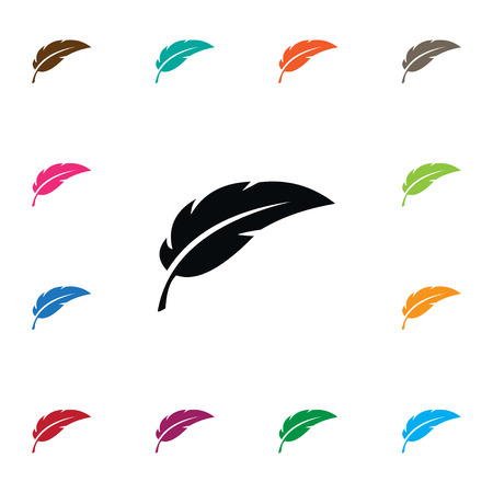 Isolated Feather Icon. Pen Vector Element Can Be Used For Plume, Feather, Pen Design Concept.