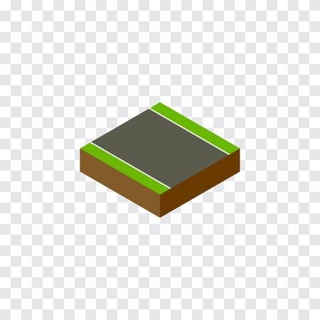 一方的な等尺性を分離しました。ストリップ ベクトル エレメントを使用することができることがなく一方的なストリップ、道路デザイン コンセプ