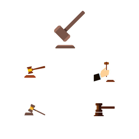 Flat Icon Court Set Of Law, Court, Government Building And Other Vector Objects. Also Includes Legal, Law, Tribunal Elements.