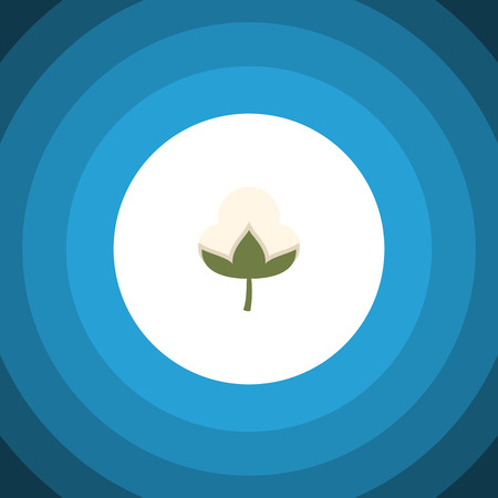 Isolated Bud Flat Icon. Cotton Vector Element Can Be Used For Cotton, Flower, Bud Design Concept.