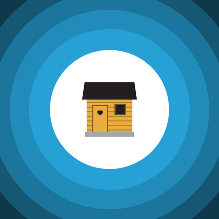depot: Isolated Barn Flat Icon. Stabling Vector Element Can Be Used For Stabling, Barn, Farmhouse Design Concept. Illustration