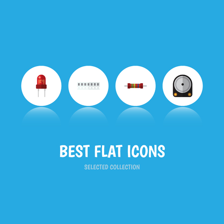 recipient: Flat Icon Appliance Set Of Hdd, Memory, Recipient And Other Vector Objects. Also Includes Access, Resistor, Recipient Elements. Illustration