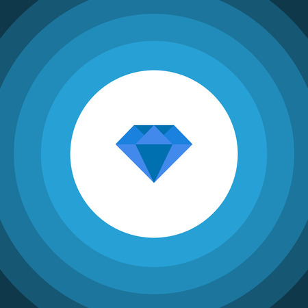 Isolated Gemstone Flat Icon. Carat Vector Element Can Be Used For Carat, Diamond, Gemstone Design Concept.