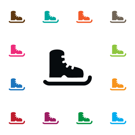 icehockey: Isolated Ice Boot Icon. Skating Vector Element Can Be Used For Skating, Ice, Boot Design Concept.