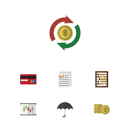 Flat Icon Gain Set Of Interchange, Diagram, Cash And Other Vector Objects. Also Includes Exchange, Interchange, Mastercard Elements.