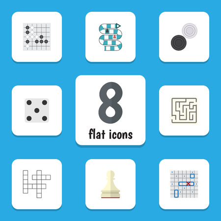 Flat Icon Play Set Of Multiplayer, Gomoku, Pawn And Other Vector Objects. Also Includes Renju, Play, Lost Elements.