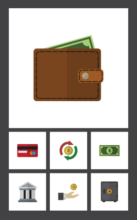 strongbox: Flat Icon Finance Set Of Payment, Hand With Coin, Greenback Vector Objects. Also Includes Card, Bank, Swap Elements. Illustration