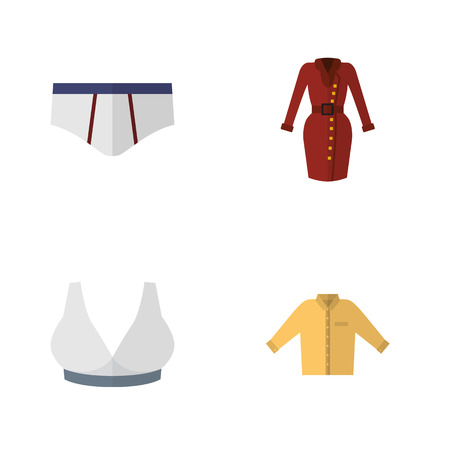 Flat Icon Clothes Set Of Clothes, Brasserie, Banyan And Other Vector Objects