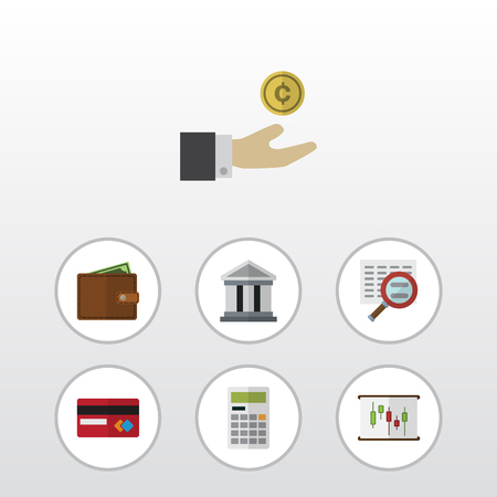 billfold: Flat Icon Finance Set Of Scan, Bank, Payment And Other Vector Objects
