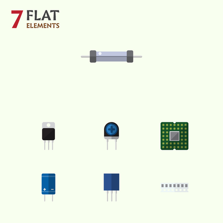 Flat Icon Appliance Set Of Receptacle, Transducer, Unit And Other Vector Objects