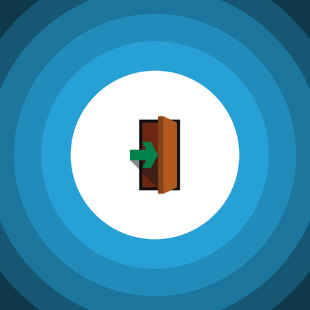 doorknob: Entrance Vector Element Can Be Used For Entry, Entrance, Door Design Concept.  Isolated Entry Flat Icon.