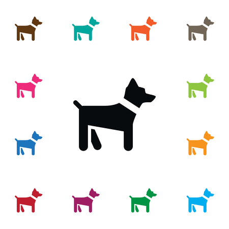Hound Vector Element Can Be Used For Animal, Dog, Hound Design Concept.  Isolated Dog Icon.