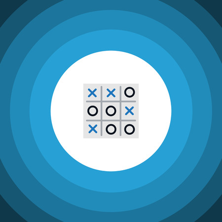 X-O Vector Element Can Be Used For Tic, Tac, Toe Design Concept.  Isolated Tic-Tac-Toe Flat Icon.