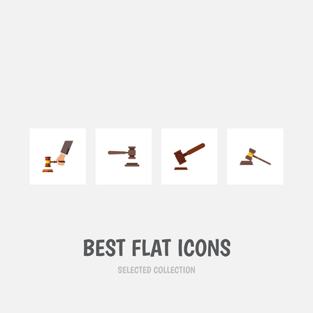 tribunal: Flat Icon Court Set Of Court, Justice, Legal And Other Vector Objects