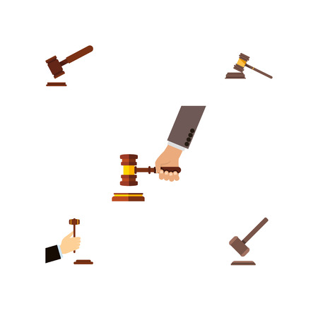 Flat Icon Court Set Of Tribunal, Court, Law And Other Vector Objects