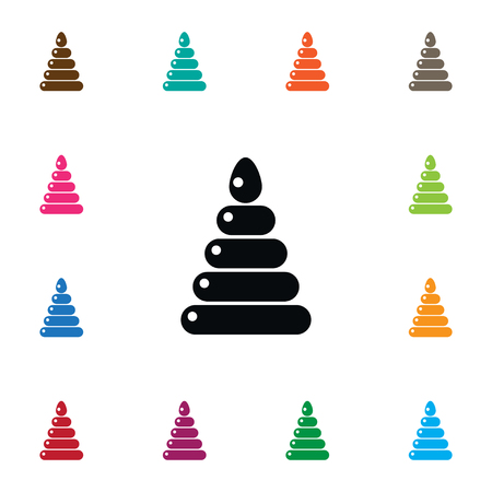 Fun Vector Element Can Be Used For Fun, Pyramid, Toy Design Concept.  Isolated Pyramid Icon.