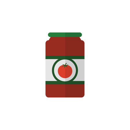 Ketchup Vector Element Can Be Used For Tomato, Sauce, Ketchup Design Concept.  Isolated Tomato Sauce Flat Icon. Illustration