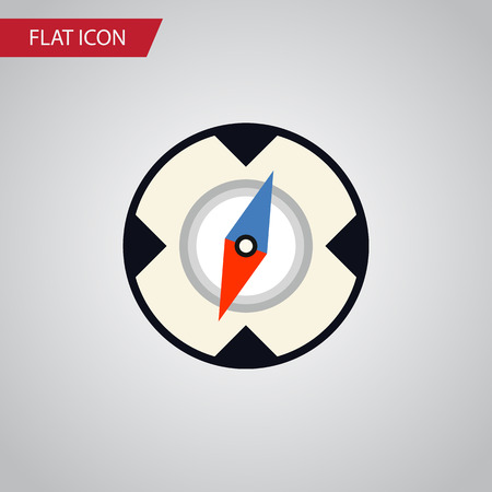 Magnet Navigator Vector Element Can Be Used For Direction, Magnet, Navigator Design Concept.  Isolated Direction Flat Icon. Illustration