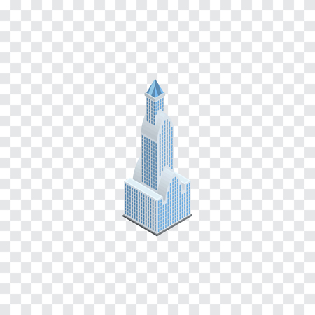 miniature: Cityscape Vector Element Can Be Used For Apartment, Tower, Cityscape Design Concept.  Isolated Tower Isometric.