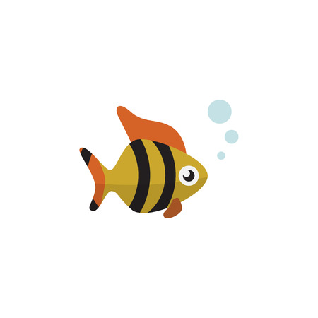 Seafood Vector Element Can Be Used For Tuna, Fish, Seafood Design Concept.  Isolated Tuna Flat Icon.