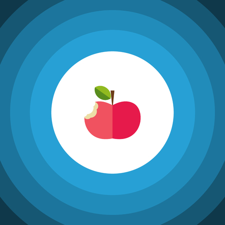 Eaten Vector Element Can Be Used For Bitten, Eaten, Apple Design Concept.  Isolated Bitten Flat Icon.