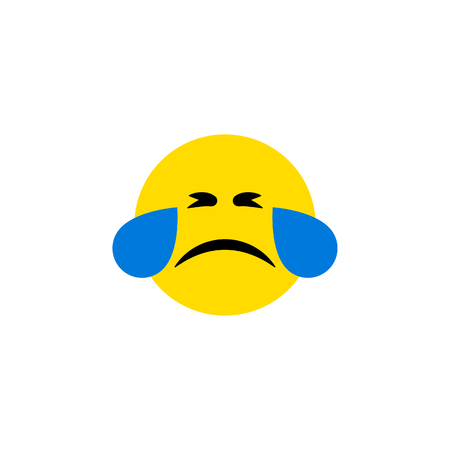 Cold Sweat Vector Element Can Be Used For Tears, Sad, Emoji Design Concept.  Isolated Tears Flat Icon.