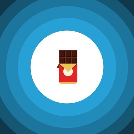 Chocolate Bar Vector Element Can Be Used For Chocolate, Shaped, Box Design Concept.  Isolated Shaped Box Flat Icon. Illustration