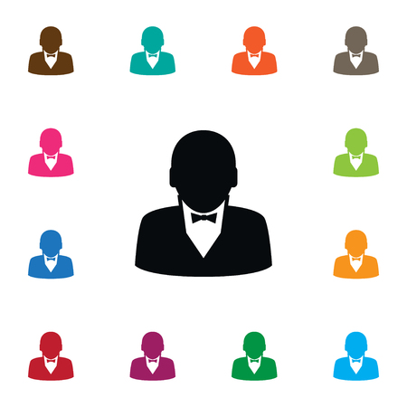 Human Vector Element Can Be Used For Human, Businessman, Manager Design Concept.  Isolated Businessman Icon.