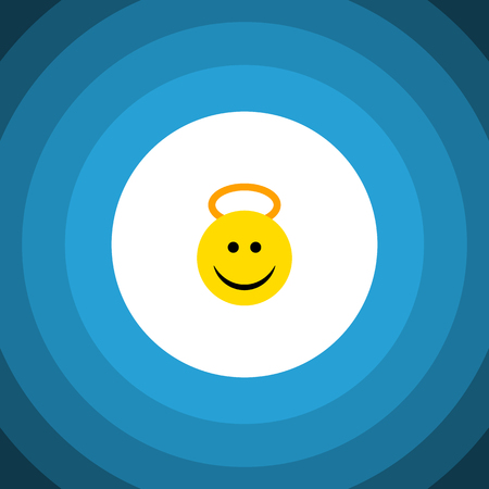 Angel Vector Element Can Be Used For Angel, Cheerful, Smile Design Concept.  Isolated Cheerful Flat Icon. Illustration