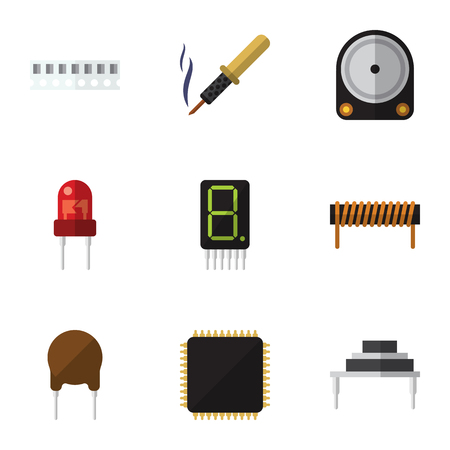 Flat Icon Technology Set Of Memory, Hdd, Cpu And Other Vector Objects