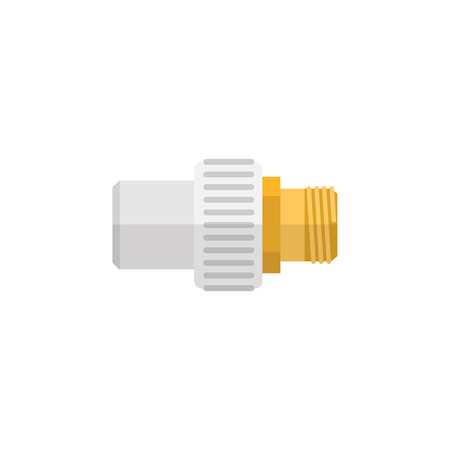 Industry Vector Element Can Be Used For Pipe, Connector, Industry Design Concept.  Isolated Connector Flat Icon.