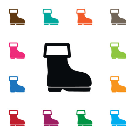 Shoes Vector Element Can Be Used For Wellies, Shoes, Boots Design Concept.  Isolated Wellies Icon.
