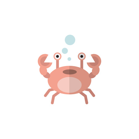Cancer Vector Element Can Be Used For Cancer, Crab, Lobster Design Concept.  Isolated Crab Flat Icon.