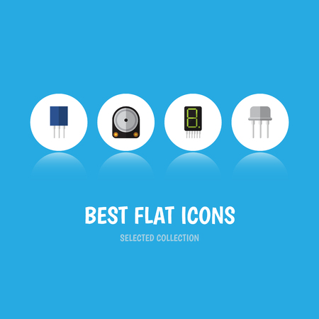 Flat Icon Electronics Set Of Hdd, Receptacle, Resist And Other Vector Objects Illustration