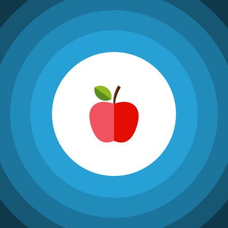 Harvest Vector Element Can Be Used For Fruit, Apple, Harvest Design Concept.  Isolated Fresh Fruit Flat Icon. Illustration