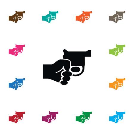 Revolver Vector Element Can Be Used For Revolver, Gun, Kill Design Concept.  Isolated Gun Icon. Illustration
