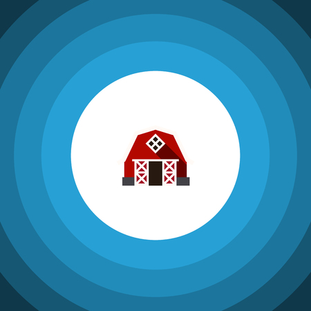 warehouse building: Farmhouse Vector Element Can Be Used For Farmhouse, Ranch, Barn Design Concept.  Isolated Barn Flat Icon.