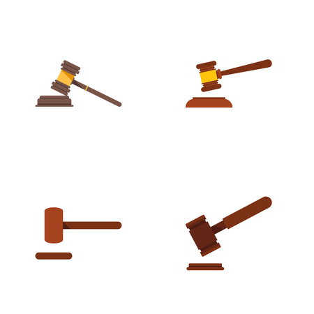 Flat Icon Court Set Of Justice, Court, Defense And Other Vector Objects