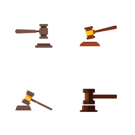 Flat Icon Lawyer Set Of Government Building, Legal, Court And Other Vector Objects